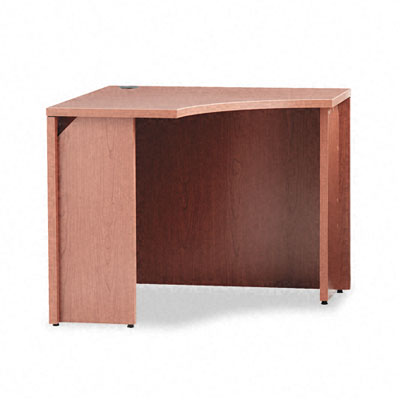 10500 Curved Corner Workstation, 18w x 36d x 36d x 29-1/2h, Bourbon Cherry