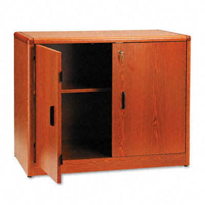 10700 Series Locking Storage Cabinet, 36w x 20d x 29-1/2h, Henna Cherry