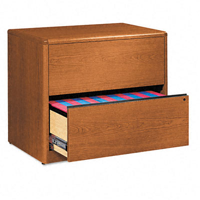 10700 Series Two-Drawer Lateral File, 36w x 20d x 29-1/2h, Bourbon Cherry