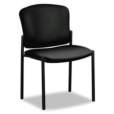 Pagoda 4070 Series Stacking Chairs, Black Vinyl, 2/Carton