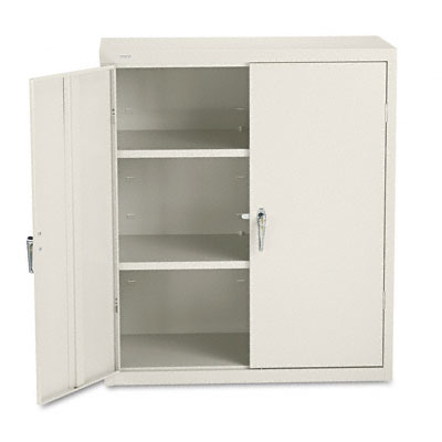 Assembled Storage Cabinet, 36w x 18d x 41 3/4h, Putty