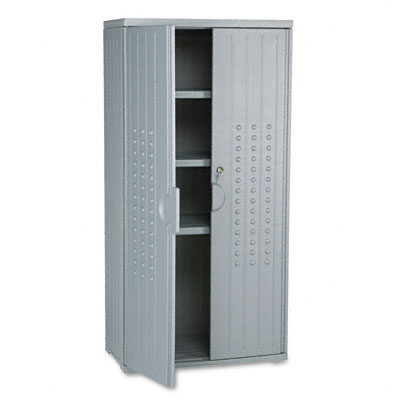 Officeworks Storage Cabinet, 33w x 18d x 66h, Charcoal - ICE92552