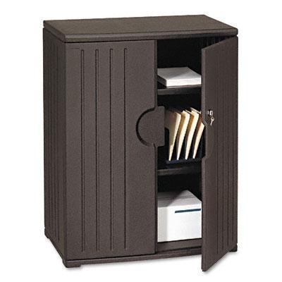 Officeworks Storage Cabinet, 36w x 22d x 46h, Black - ICE92561