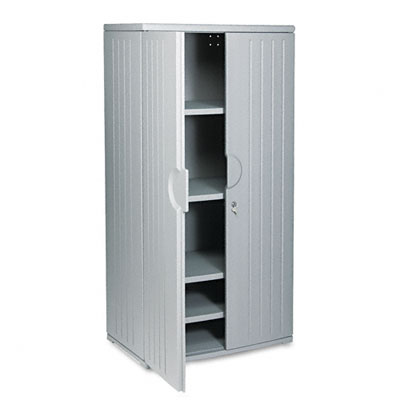 Officeworks Storage Cabinet, 36w x 22d x 72h, Charcoal - ICE92572