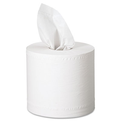SCOTT Center-Pull Towels, 8 x 15, White, 500/Roll, 4/Carton - KIM01010