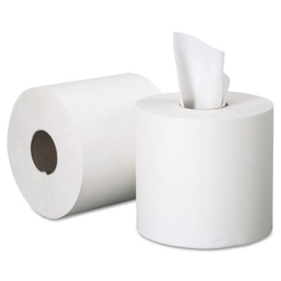 SCOTT Center-Pull Paper Roll Towels, 8 x 15, White, 500/Roll, 4/Carton - KIM01051