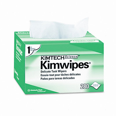 KIMWIPES Ex-L Delicate Task Wipes, Cloth, 4-1/2 x 8-1/2, 280/Box - KIM34155