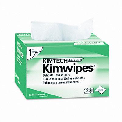 KIMWIPES Ex-L Delicate Task Wipes, Cloth, 4-1/2 x 8-1/2, 280/Box - KIM34155