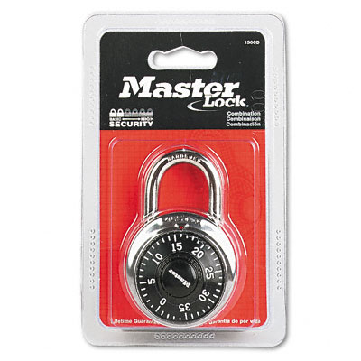 Combination Lock, Stainless Steel, 1-7/8