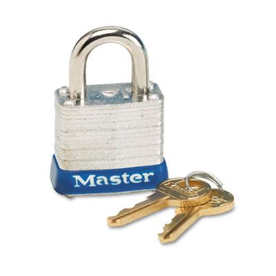 Four-Pin Tumbler Lock, Laminated Steel Body, 1-1/8
