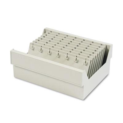 "In-Drawer Key Control, 112-key, Molded Plastic, Putty, 12"" x 9 7/8"" x 4 3/4"""