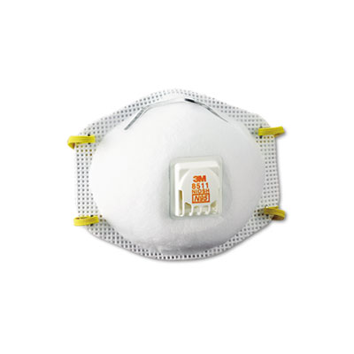 Particulate Respirator w/Cool Flow Exhalation Valve, 10 Masks/Box - MMM8511