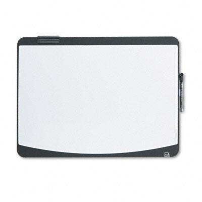 Dry-Erase Marker Board, Foam, 23 1/2 x 17 1/2, Black/White, Black Frame