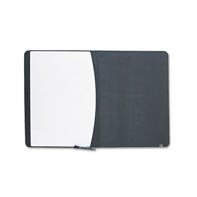 Tack & Write Combo Dry-Erase/Marker Board, Foam, 35 x 23 1/2, Black/White