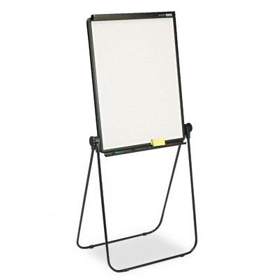 Total Erase Presentation Dry-Erase Easel, 26 x 34, White, Black Steel Frame