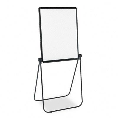Ultima Presentation Dry Erase Easel, Melamine, 27 x 34, White, Black Frame