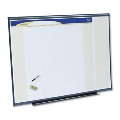 Prestige Total Erase Monthly Calendar, 48 x 36, Gray Aluminum Frame