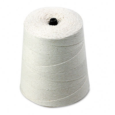 White Cotton 6-Ply (Light) String on Cone, 8000 Feet - QUA46173