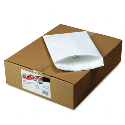 Tyvek Air Bubble Mailer, Self-Seal, Side Seam, 9 x 12, White, 25/Box