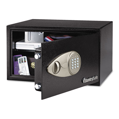 Electronic Lock Security Safe, 1.0 ft3, 16-15/16w x 14-9/16d x 8-7/8h, Black