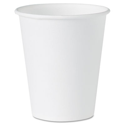 White Paper Water Cups, 4 oz., White, 100/Pack