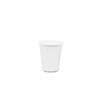 White Paper Water Cups, 3 oz., 50 Bags of 100/Carton