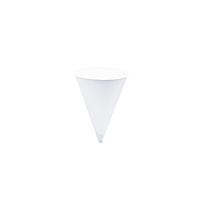 Cone Water Cups, Cold, Paper, 4 oz., White, 25 Bags of 200/Carton