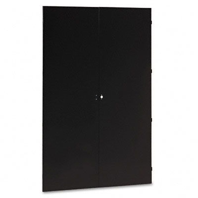 "78"" High Jumbo Cabinets, Box 1 of 2, 48w x 24d x 78h, Black-TNNJ478BK"