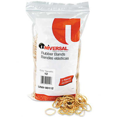 Rubber Bands, Size 12, 1-3/4 x 1/16, 2580 Bands/1lb Pack