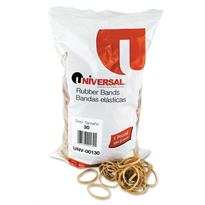 Rubber Bands, Size 30, 2 x 1/8, 1120 Bands/1lb Pack