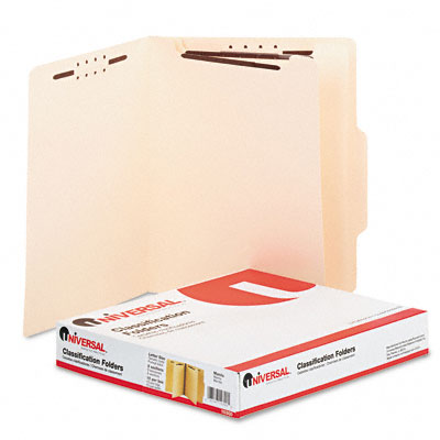 Manila Classification Folders, Letter, 6-Section, 15/Box - UNV10300