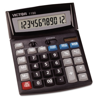 1190 Compact Desktop Calculator, 12-Digit LCD