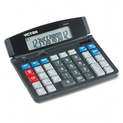 1200-4 Business/Desktop Calculator, 12-Digit LCD