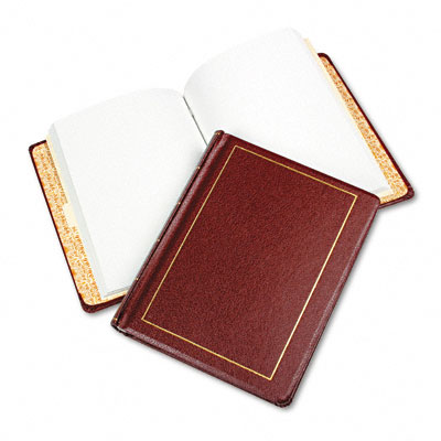 Looseleaf Minute Book, Red Leather-Like Cover, 125 Pages, 8 1/2 x 11