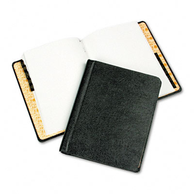 Corp Record/Minute Book Complete Outfit, Black, 75 Pages, 8 1/2 x 11