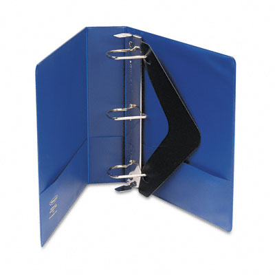 "Heavy-Duty No-Gap D-Ring Binder w/Label Holder, 2"" Cap., Dark Blue"