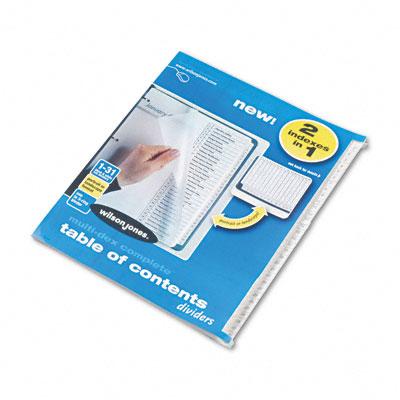 MultiDex Index Black & White 31-Tab, 1-31, Letter, 31/Set