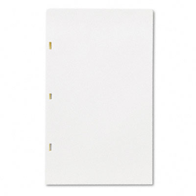 Looseleaf Minute Book Ledger Sheets, Ivory Linen, 14 x 8-1/2, 100 Sheet/Box - WLJ90130