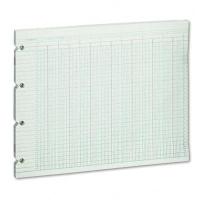 Accounting Sheets, 24-Col, 9-1/4 x 11-7/8, 100 Loose Sheets/Pack, Green