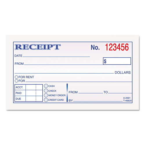 TOP46820 TOPS Money and Rent Receipt Books 234 x 4 78 2 – Rent Slip Pdf