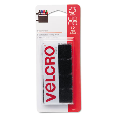 VELCRO Brand 5//8in Coins Sticky Back Hook and Loop Fasteners Pack of 40 Perfect for Home or Office Beige