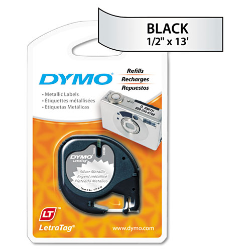 Dymo LetraTag Paper//Plastic Label Tape Value Pack 1//2 x13ft Assorted 3//Pack