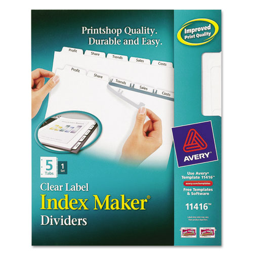 avery u00ae index maker clear label dividers  5