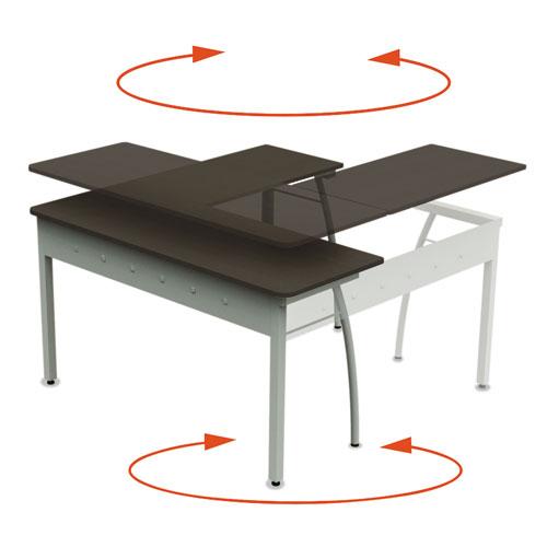 Linea Italia 174 Trento Line L Shaped Desk 59 1 8w X 59 1 8d