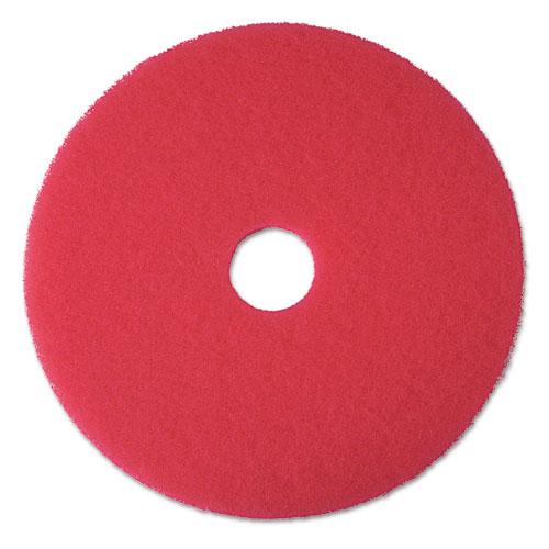 3m buffer floor pad 5100 17 red 5 pads carton mmm08392 for 17 floor buffer pads