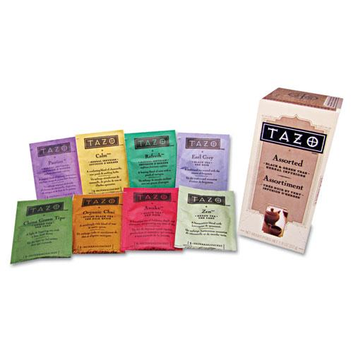 tazo 174 assorted tea bags three each flavor 24 tea bags