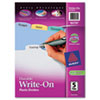 Avery® Translucent Durable Plastic Write-On Big Tab™ Dividers with Erasable Tabs | www.SelectOfficeProducts.com