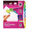 Avery® Style Edge Durable Plastic Insertable Tab Dividers with Multicolor | www.SelectOfficeProducts.com