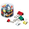 Officemate Assorted Colors Binder Clips | www.SelectOfficeProducts.com