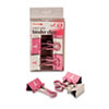 Officemate Easy Grip Pink Binder Clips | www.SelectOfficeProducts.com